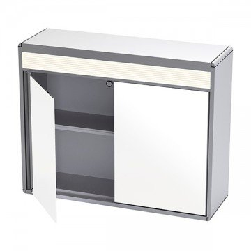 Cabinet with 2 doors and LED light 60 x 47cm