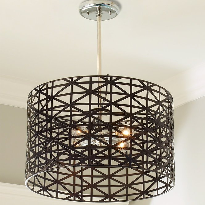 Young House Love Metal Strap Convertible Chandelier