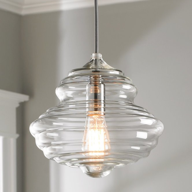 Closed Glass Bell Pendant