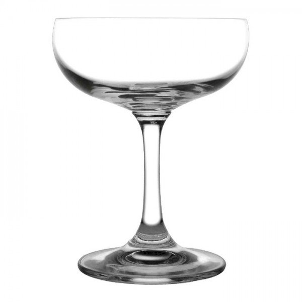 Olympia GF732 Bar Crystal Champagne Saucers 220ml (6 Pack)
