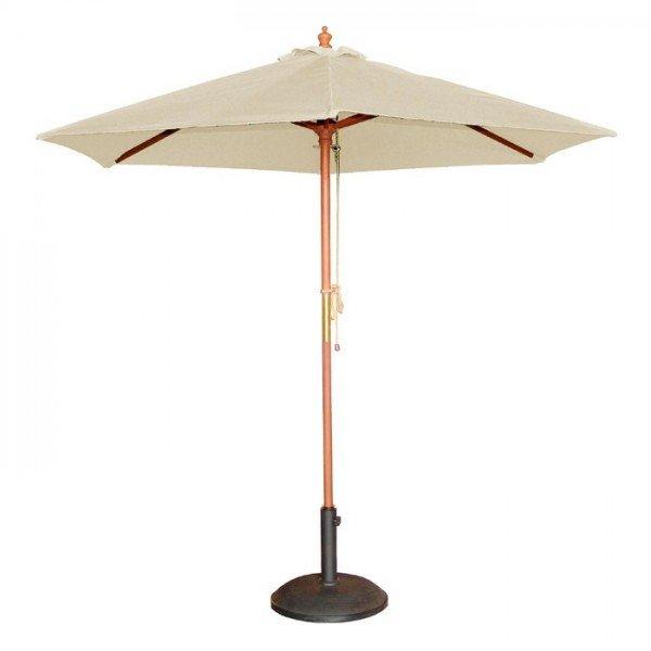 Bolero Round Cream Outdoor Umbrella 2.52m High