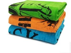 28x58 Super Economy Terry Velour Beach Towel/ 9 Lbs per Dz. 100% Cotton for silkscreen and embroider