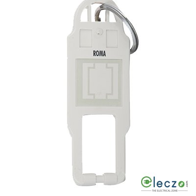 Anchor Roma Classic Hotel Key Card White, Key Ring Tag