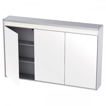 Cabinet with 3 doors and LED light 120 x 75cm