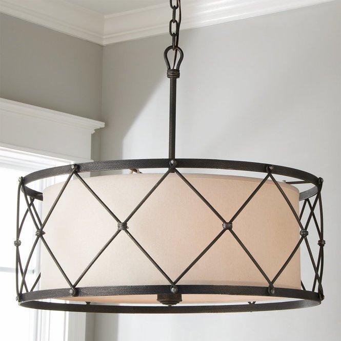 Tied Cage Drum Chandelier - 6 Lights