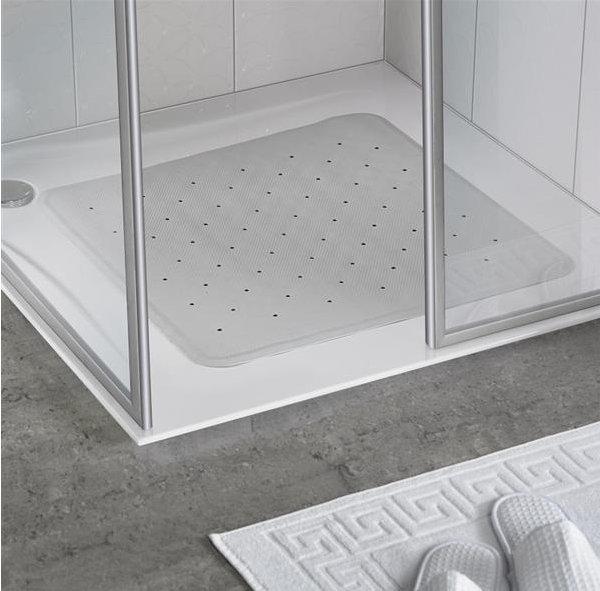 White Rubber Shower Mat