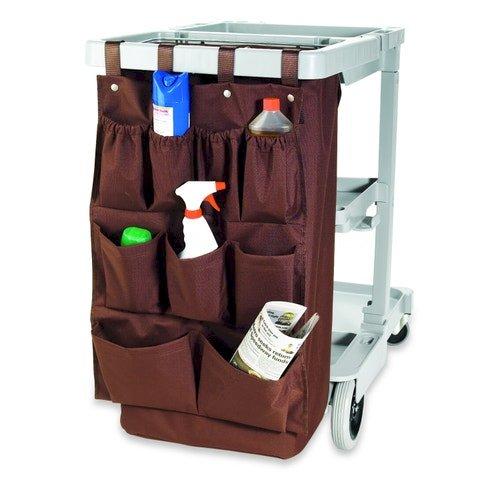 Registry Housekeeping Cart Caddy Bag, 9-Pocket, Brown