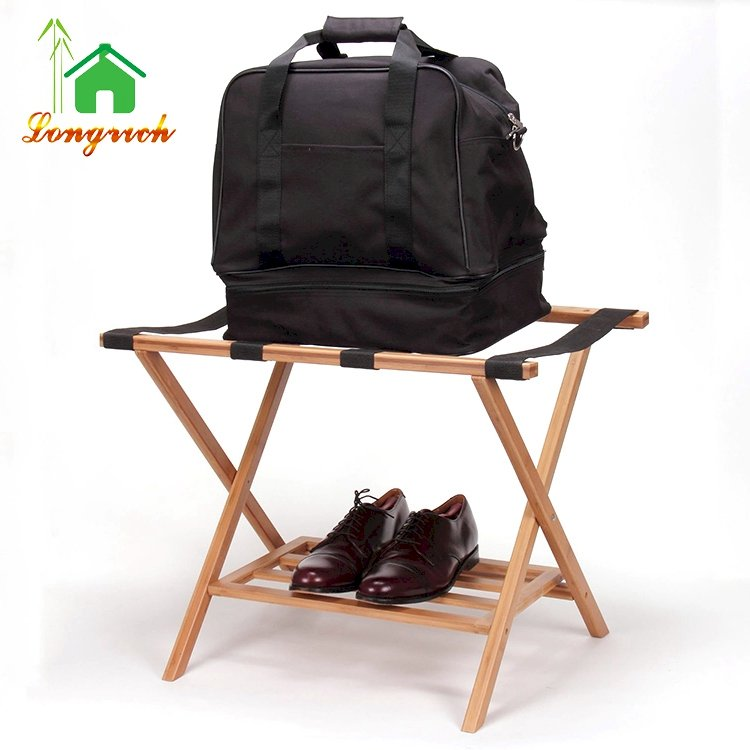 Cheap Wholesale Suitcase Wooden Folding Luggage Rack Stand for Hotel