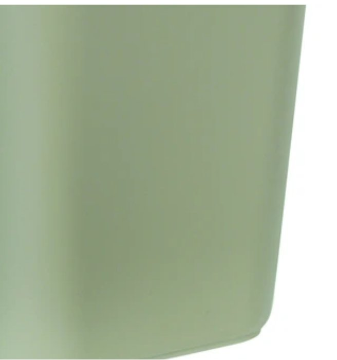 Rubbermaid Commercial Products Plastic Wastebasket, 28 Qt., Beige