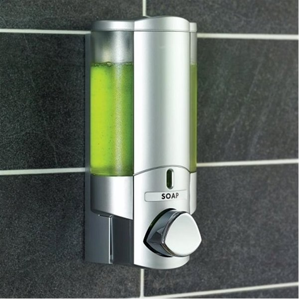 Aviva Chrome Translucent Dispenser,Lockable Single