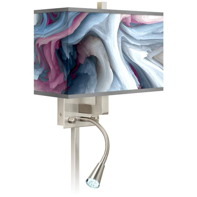 Europa Giclee Glow LED Reading Light Plug-In Sconce