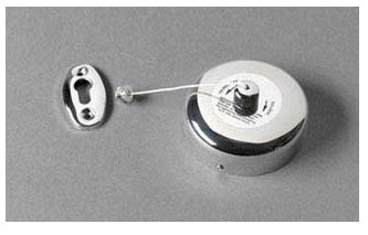 Hotel Retractable Clothes Line - 2.4m - Pack Of 5 - Chrome Coloured