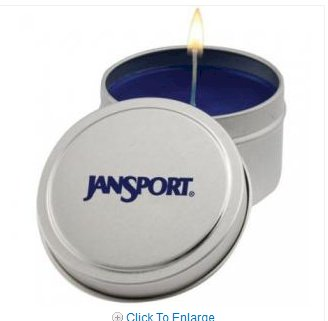 Promotional Round 6 Ounce Tin Aromatherapy Candle