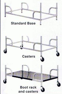 3 Swivel Casters for Stationary Garment Rack