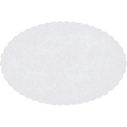 Hoffmaster Paper Wastebasket Liner, Scalloped Oval, 9