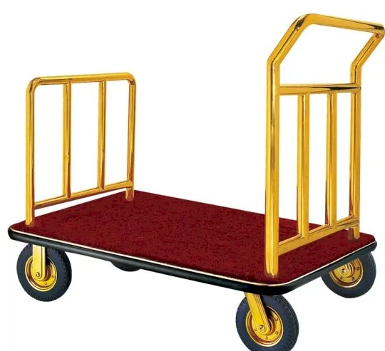 Stainless Steel Luggage Cart for Hotel Lobby (XL-06)