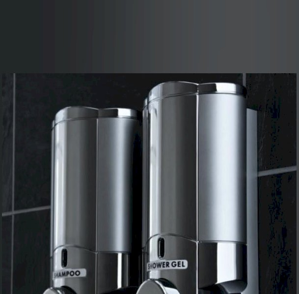 Aviva Chrome Opaque Satin Dispenser, Lockable Double