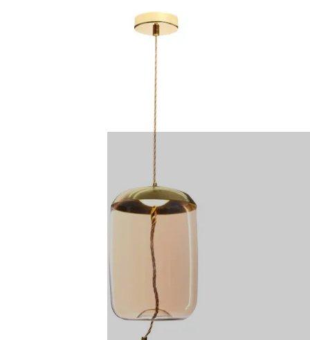 Modern Glass LED Ceiling Light Hotel Projector Interior Pendant Lighting