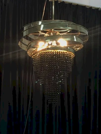 Modern Hotel Decorative Stainless Steel Hanging Crystal Pendant Lighting (KA00222)