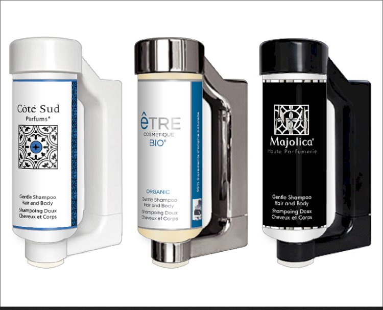 Press & Wash 300ml Wall Dispensers for shampoo, shower gel and hand wash.