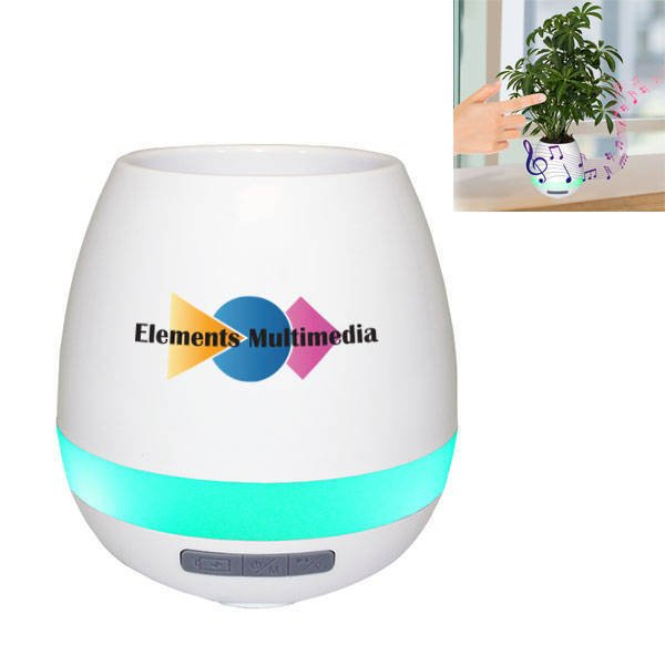 Musical Planter & Wireless Speaker, Full Color Imprint