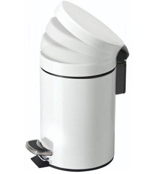 3 Litre Soft Close Pedal Bin White