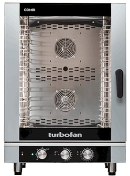 Turbofan Electric Combi Oven 10 Tray 1/1 GN - Manual Control EC40M10