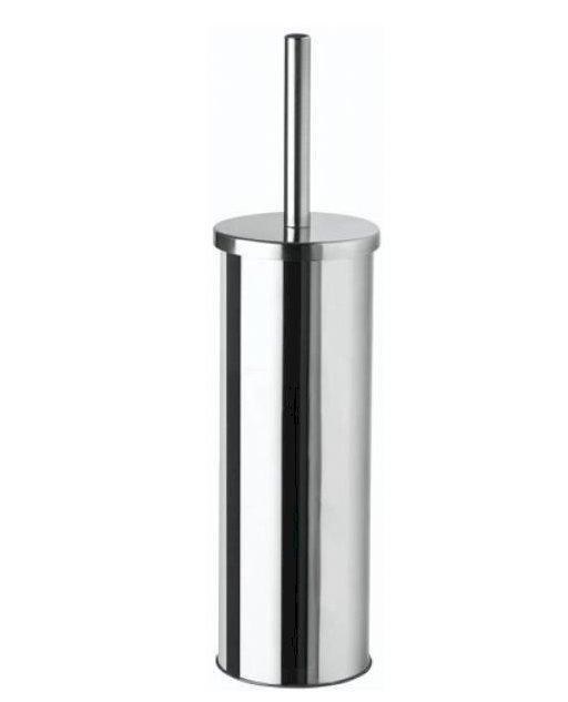 Toilet Brush & Holder Mirror Steel