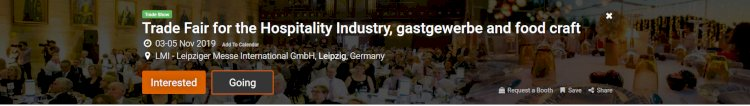 Trade Fair for the Hospitality Industry, gastgewerbe and food craft
