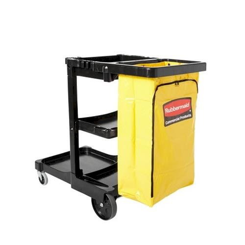 Janitor Cart 2000 553mm x 1166mm x 976mm Black