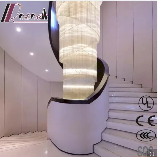 Big Size White Luxury Crystal Pendant Lighting with Hotel