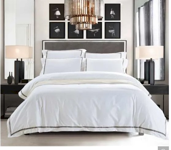Luxury Hotel Comforter Set Embroidery Hotel Cotton Bedding