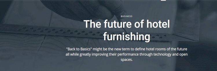 The future of hotel furnishing