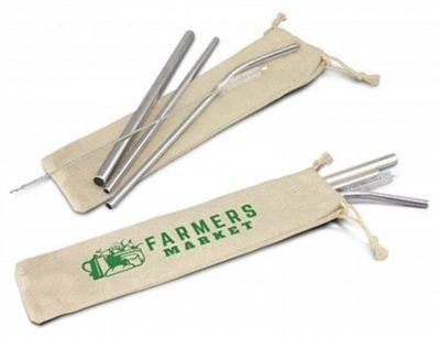 3 Stainless Steel Drinking Straw Set