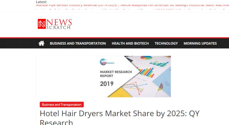 Hotel Hair Dryers Market Share by 2025: QY Research