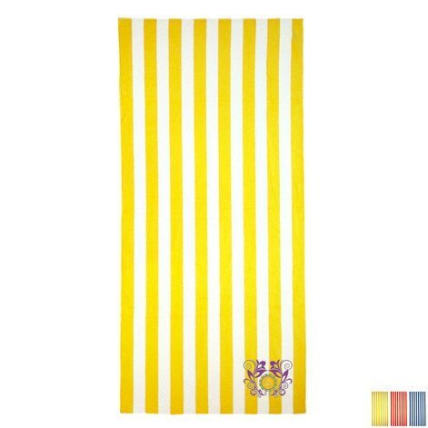 Turkish Signature Cabana Stripe Medium Weight Beach Towel, 13 lbs.