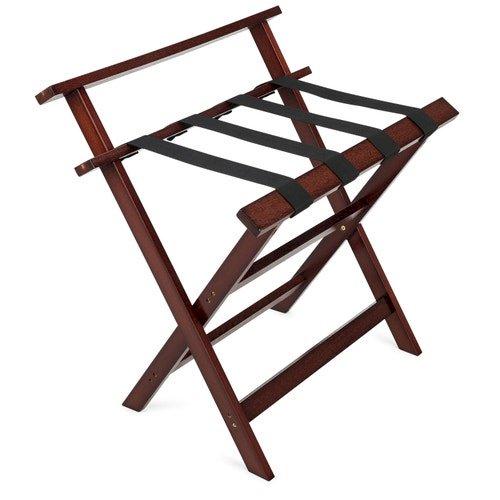 Registry Aristocrat Wood Luggage Rack With Backrest, 26