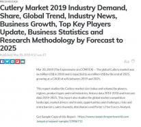 Cutlery Market 2019 Industry Demand, Share, Global Trend, Industry News, Business Growth, Top Key Players Update, Business Statistics and Research Methodology by Forecast to 2025
