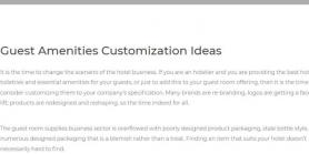 Guest Amenities Customization Ideas