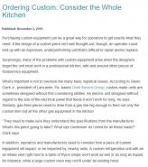 Ordering Custom: Consider the Whole Kitchen