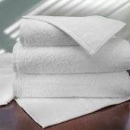Allura Bath Towel 100% Cotton Terry, 30x60 18.5 lbs/dz, Diamond Hem, White