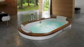 Opalia whirlpool bath: the ambiance of ancient thermal baths at home