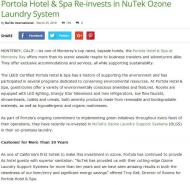 Portola Hotel & Spa Re-invests in NuTek Ozone Laundry System