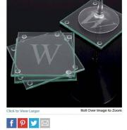 Personalized Glass Coasters - Set of 4