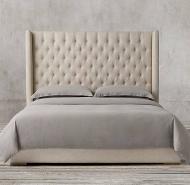 Adler Shelter Diamond-Tufted Fabric Bed