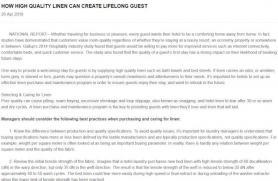 How High Quality Linen Can Create Lifelong Guest