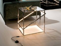 Furniture with LED lights and geometric shapes, eye-catching collections from Schuller