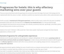 Fragrances for hotels: this is why olfactory marketing wins over your guests