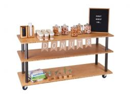 Cal-Mil 3698-4-60 Bamboo 3-Shelf U-Build Service Cart - 48