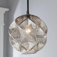 Mercury Glass Geodesic Dome Pendant Light